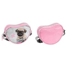 Paso Studio Pets Love Pugs szív alakú mini válltáska