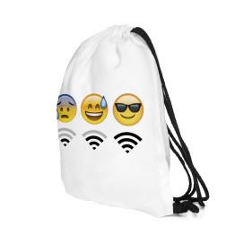 Wilky  Emoji Wifi White tornazsák