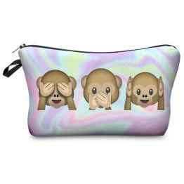 Wilky Holo Monkeys kozmetikai táska