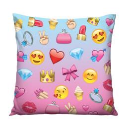 Wilky Emoji Girl 45 x 45cm párnahuzat